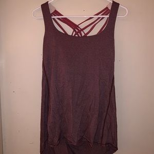 Lululemon Scoop Back Maroon Tank Top